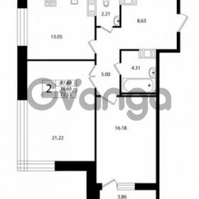 Продается квартира 2-ком 70 м² Ушаковская набережная 3, метро Черная речка