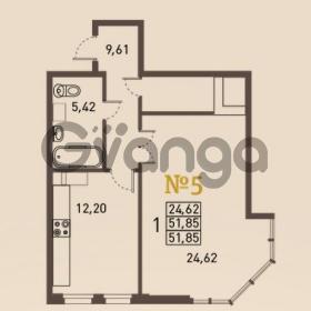 Продается квартира 1-ком 51 м² проспект Энгельса 2, метро Черная Речка