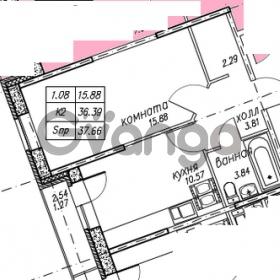 Продается квартира 1-ком 37 м² улица Николая Рубцова 9, метро Парнас