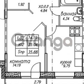 Продается квартира 1-ком 35 м² улица Николая Рубцова 9, метро Парнас