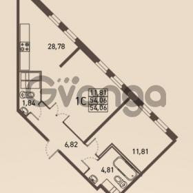 Продается квартира 1-ком 54 м² проспект Энгельса 2, метро Черная Речка