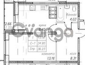Продается квартира 1-ком 36 м² улица Фёдора Абрамова 16к 1, метро Парнас