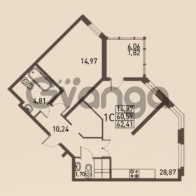 Продается квартира 1-ком 62 м² проспект Энгельса 2, метро Черная Речка