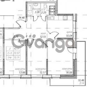 Продается квартира 3-ком 75 м² улица Фёдора Абрамова 16к 1, метро Парнас