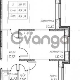 Продается квартира 2-ком 49 м² улица Фёдора Абрамова 16к 1, метро Парнас
