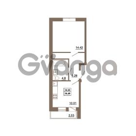 Продается квартира 1-ком 35.5 м² Гаражный проезд 1, метро Ладожская