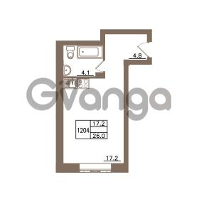 Продается квартира 1-ком 26 м² Гаражный проезд 1, метро Ладожская