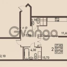 Продается квартира 2-ком 57 м² проспект Энгельса 2, метро Черная Речка