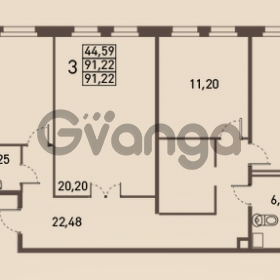Продается квартира 3-ком 91 м² проспект Энгельса 2, метро Черная Речка