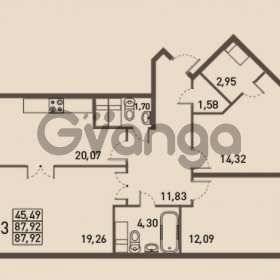 Продается квартира 3-ком 87 м² проспект Энгельса 2, метро Черная Речка