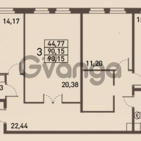 Продается квартира 3-ком 90 м² проспект Энгельса 2, метро Черная Речка