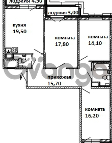 Продается квартира 3-ком 95 м² Московский проспект 115, метро Московские ворота