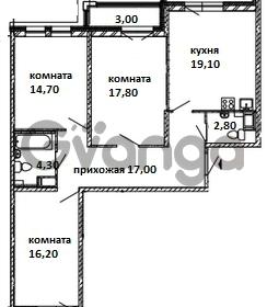 Продается квартира 3-ком 97 м² Московский проспект 115, метро Московские ворота