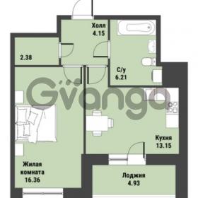 Продается квартира 1-ком 44 м² Советский проспект 24, метро Рыбацкое