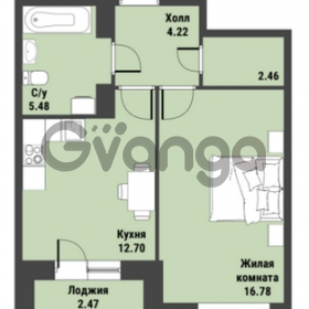 Продается квартира 1-ком 42 м² Советский проспект 24, метро Рыбацкое