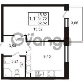 Продается квартира 1-ком 31 м² Комендантский проспект 53к 1, метро Комендантский проспект