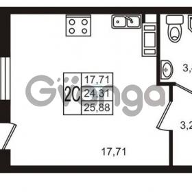 Продается квартира 1-ком 24 м² Комендантский проспект 53к 1, метро Комендантский проспект