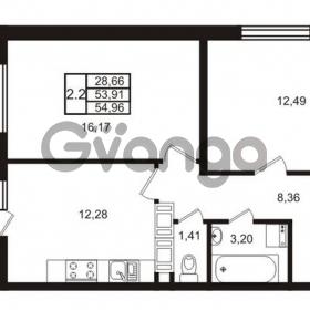 Продается квартира 2-ком 53 м² Комендантский проспект 53к 1, метро Комендантский проспект