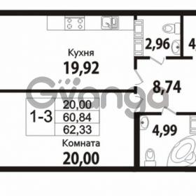 Продается квартира 2-ком 62 м² Советский проспект 24, метро Рыбацкое