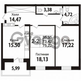 Продается квартира 2-ком 73 м² Кирочная улица 57, метро Чернышевская