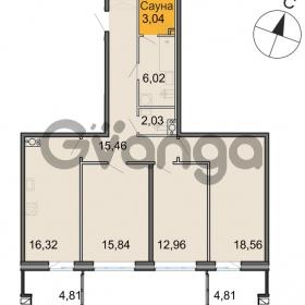 Продается квартира 3-ком 90 м² Новоорловская улица 101, метро Озерки