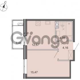 Продается квартира 1-ком 36 м² Новоорловская улица 101, метро Озерки