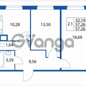 Продается квартира 2-ком 57 м² Петровский бульвар 1, метро Девяткино