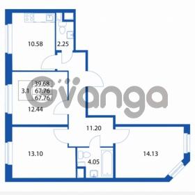 Продается квартира 3-ком 67 м² Петровский бульвар 1, метро Девяткино