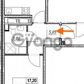 Продается квартира 1-ком 37.1 м² проспект Строителей 7, метро Улица Дыбенко