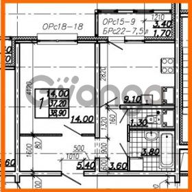 Продается квартира 1-ком 38.9 м² Южное шоссе 110, метро Международная
