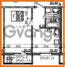 Продается квартира 1-ком 39.5 м² Южное шоссе 110, метро Международная