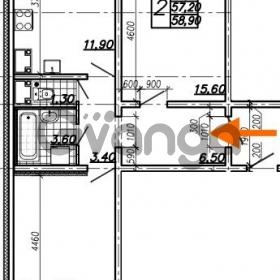 Продается квартира 2-ком 58.9 м² Южное шоссе 110, метро Международная