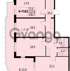Продается квартира 4-ком 135 м² улица Адмирала Коновалова 2, метро Автово