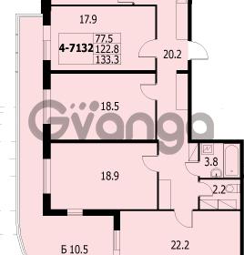 Продается квартира 4-ком 131 м² улица Адмирала Коновалова 2, метро Автово
