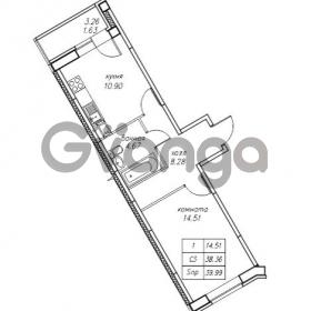 Продается квартира 1-ком 39.99 м² Юнтоловский проспект 53к 4, метро Старая деревня