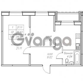Продается квартира 2-ком 52.91 м² Юнтоловский проспект 53к 4, метро Старая деревня