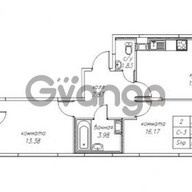 Продается квартира 2-ком 56.25 м² Юнтоловский проспект 53к 4, метро Старая деревня