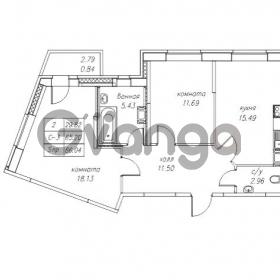 Продается квартира 2-ком 66.19 м² Юнтоловский проспект 53к 4, метро Старая деревня