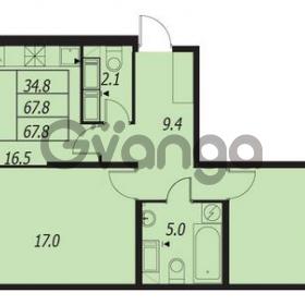 Продается квартира 2-ком 67 м² улица Адмирала Трибуца 7, метро Автово