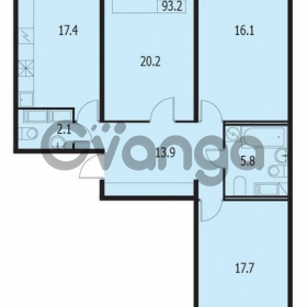Продается квартира 3-ком 93 м² улица Адмирала Трибуца 7, метро Автово