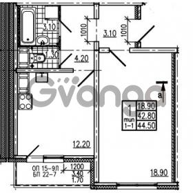 Продается квартира 1-ком 44.5 м² Маршала Блюхера 12АЭ, метро Лесная