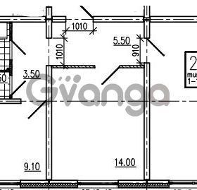 Продается квартира 2-ком 56.9 м² Маршала Блюхера 12АЭ, метро Лесная