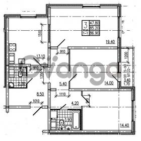 Продается квартира 3-ком 86.9 м² Маршала Блюхера 12АЭ, метро Лесная