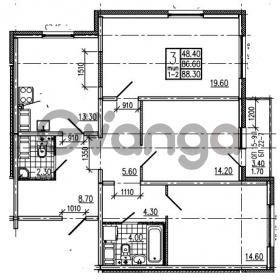Продается квартира 3-ком 88.3 м² Маршала Блюхера 12АЭ, метро Лесная