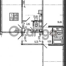 Продается квартира 3-ком 93 м² Маршала Блюхера 12АЭ, метро Лесная