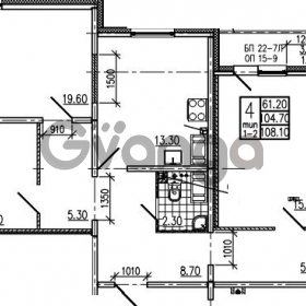 Продается квартира 4-ком 108.1 м² Маршала Блюхера 12АЭ, метро Лесная