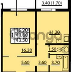 Продается квартира 1-ком 43.5 м² Маршала Блюхера 12АЭ, метро Лесная
