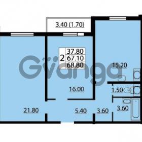 Продается квартира 2-ком 68.8 м² Маршала Блюхера 12АЭ, метро Лесная