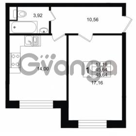 Продается квартира 1-ком 45 м² Ропшинское шоссе 1, метро Проспект Ветеранов