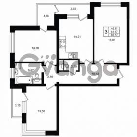 Продается квартира 3-ком 85 м² Ропшинское шоссе 1, метро Проспект Ветеранов